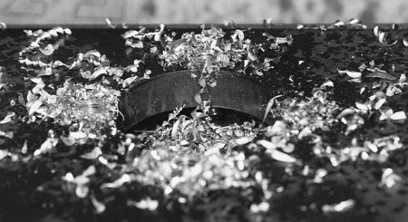 affixment: Close up photo of the CNC steel