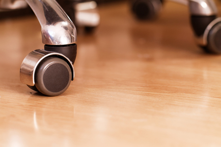 elbowchair: Photo of a rolling chair trolley wheels Stock Photo