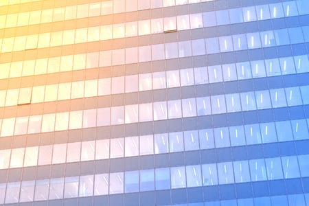 office windows: Blue-orange office windows background
