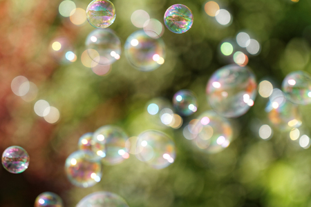 blower: The rainbow bubbles from the bubble blower