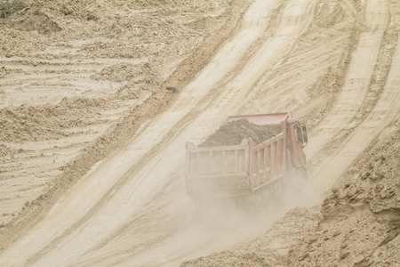 smelter: Coal mining in an open pit Stock Photo