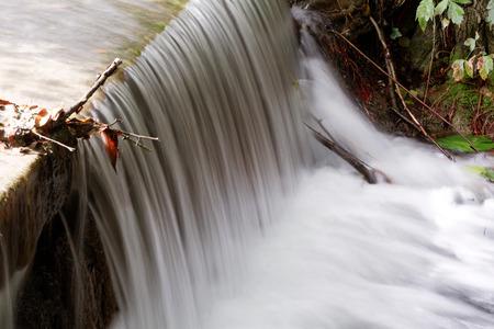 shutter: Small waterfall in nature - long shutter speed