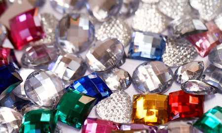 Colorful plastic crystals - close up photo Stock Photo