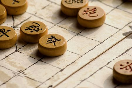 ancient tradition: Chinese chess game