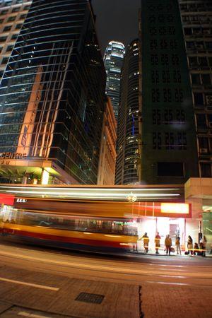 bus passing by in Hong Kong