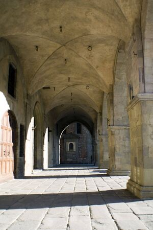 medieval loggia, Italy