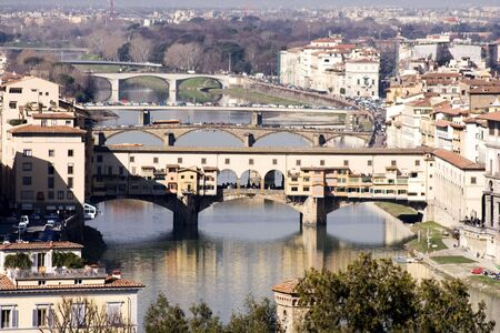 the river and the city, Florence Stock Photo