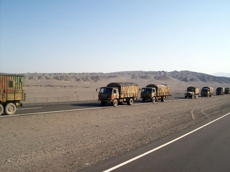 Chinese army on the move