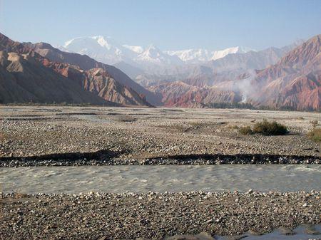 the glacier in the Pamir region