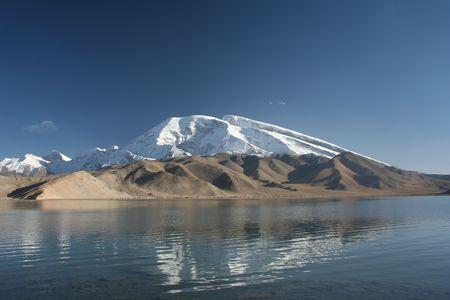 the splendid Karakul lake, on the Pamir, China Stock Photo