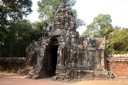marvellous: gate to a temple in Cambodia
