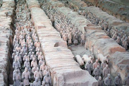 Xian ancient terracotta warriors Editorial