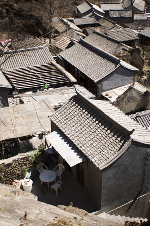 traditional Chinese courtyard houses Stock Photo