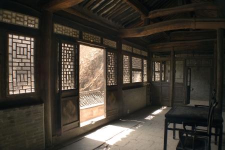 pagoda: interior de una antigua casa de Chino
