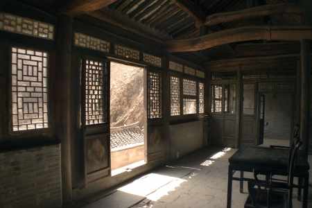 courtyard: interior of an old Chinese house Stock Photo