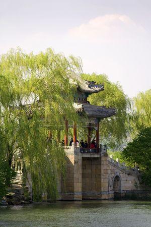 heave: beautiful elegant bridge pavilion in China