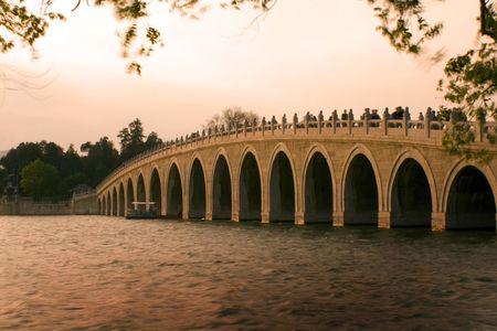 the Summer Palace in Beijing, famous bridge. beautiful scenario