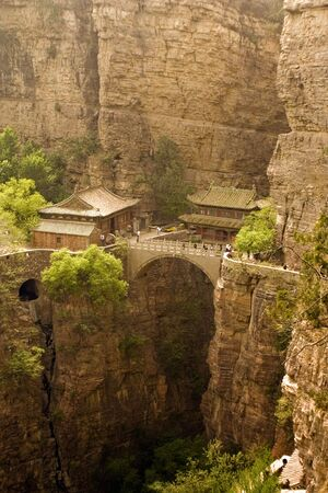 beautiful temple in the clouds, Hebei, China Stock Photo