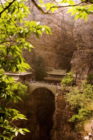 landscape view of an ancient temple in the mountains, Hebei, China Stock Photo - 4796400