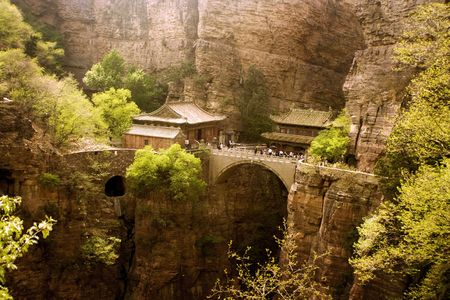 panorama of fairy Canyangshan in Hebei, China