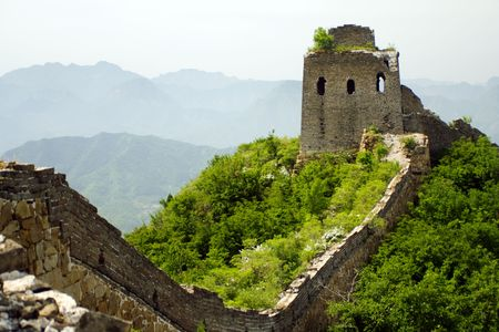great wall, V section, Hebei province photo