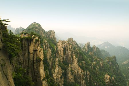 incredible scenic view of huangshan