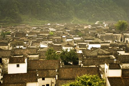 panoramic view of likeng village, china