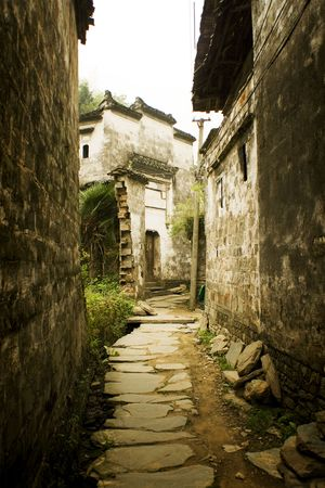old towns: ancient lane in south china Stock Photo