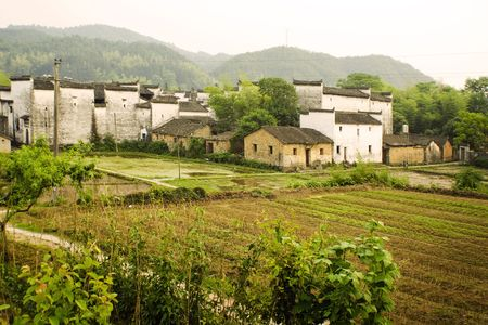countryside of south china, villages and mountains photo
