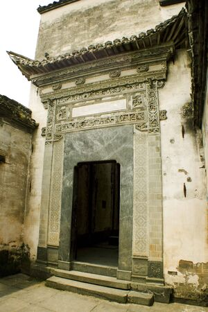 monument valley view: ancient house in huizhou stuyle, china