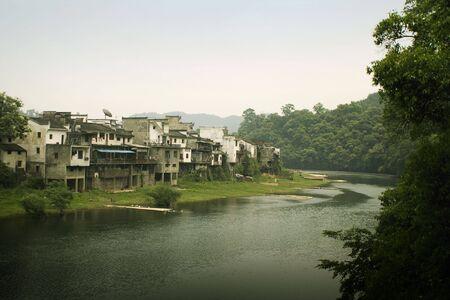 river town of wangkou, china photo