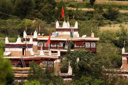 traditional tibetan houses photo
