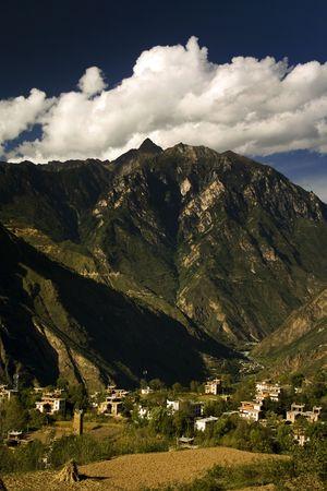 danba, most beautiful tibetan village in china photo