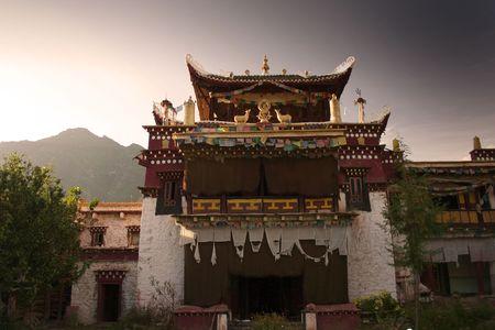 sacred tibetan temple in china photo