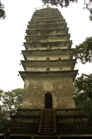 pagoda in sichuan, china photo