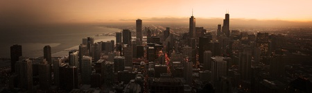 Chicago Panorama at sunset photo