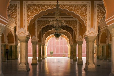 royal interior in Jaipur palace, India 版權商用圖片 - 17913895