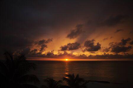 mujeres: sunset Mexico holidays Stock Photo
