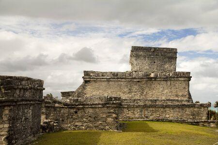 mayan riviera: Tulum, main pyramid and temple