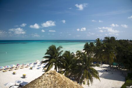 mujeres: tropical beach in Mexico, holiday paradise