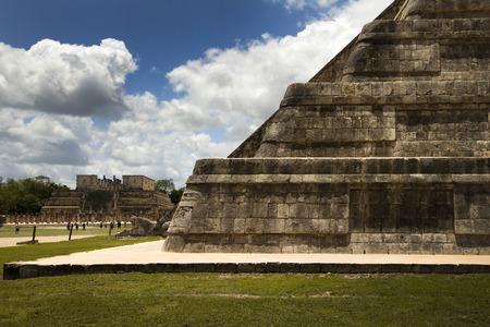 mayan riviera: Mayan monument, pyramid in Mexico Stock Photo
