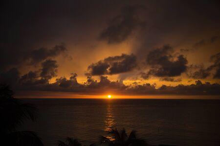 sunset Mexico holidays Stock Photo