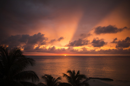 romantic sunset in Mexico