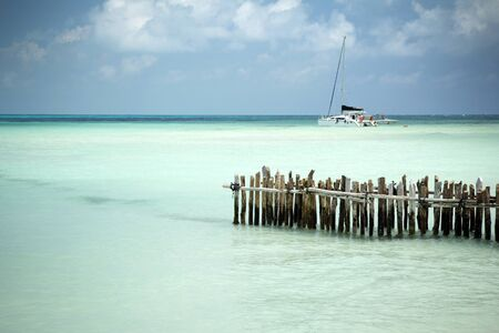 tropics on a boat and mexican paradise beach photo