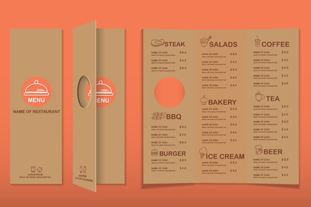 restaurant, bistro and cafe menu, infographics background and elements simple design. Can be used for layout, banner, web design, brochure template.