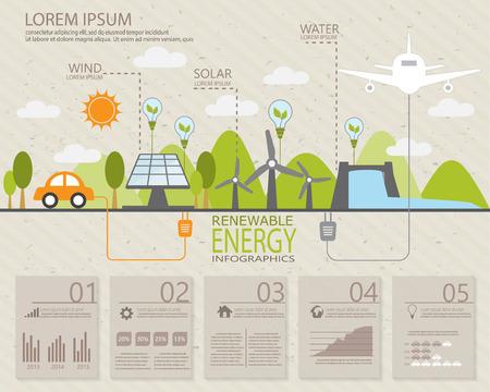 elementos infográficos ecología, puede ser utilizado para el diseño de flujo de trabajo, bandera, diagrama, diseño web, línea de tiempo, gráfico de información, plantilla de folleto estadística. ilustración vectorial