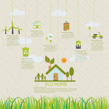 eco power: ecology infographic elements, Can be used for workflow layout, banner, diagram, web design, timeline, info chart, statistic  brochure template. vector illustration Illustration