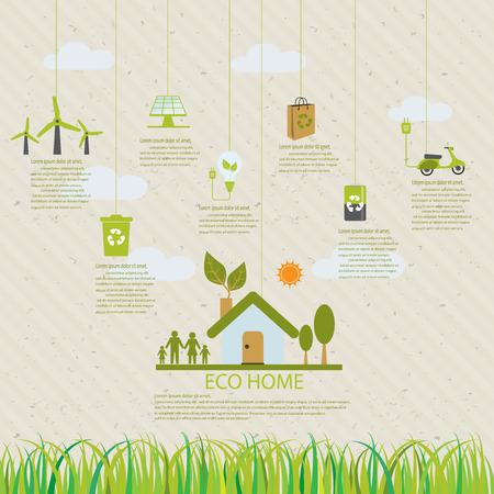 medio ambiente: elementos infográficos ecología, puede ser utilizado para el diseño de flujo de trabajo, bandera, diagrama, diseño web, línea de tiempo, gráfico de información, plantilla de folleto estadística. ilustración vectorial