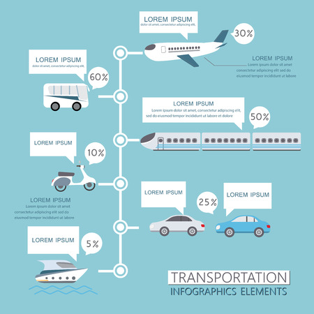 routes: transportation infographics element. can be used for workflow layout, diagram, number options, step up options, web design, banner template. Vector illustration