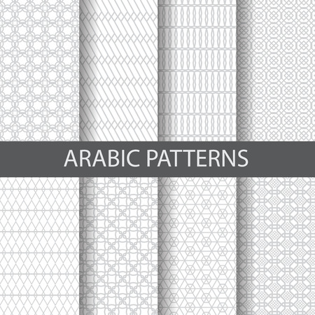 10 arabic, islamic  patterns,  Pattern Swatches, vector, Endless texture can be used for wallpaper, pattern fills, web page,background,surface